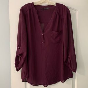 Maurice's Plus size Burgundy Top size 2x